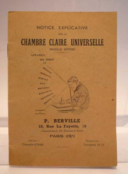 Vente aux ench res science notice explicative sur la for Chambre claire universelle